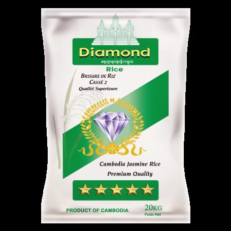 Riz Cambodge Cassé 2 fois DIAMOND 20Kg