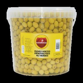 Olives Vertes Aux Herbes Denoyautées 6Kg