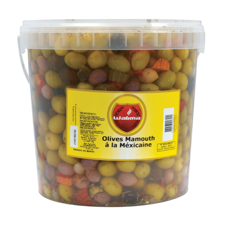 Olives Mamouth à la mexicaine 8kg