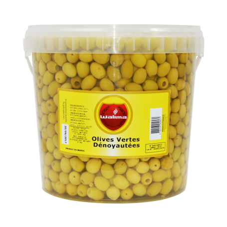 Olives Vertes Dénoyautées 22/25 6kg